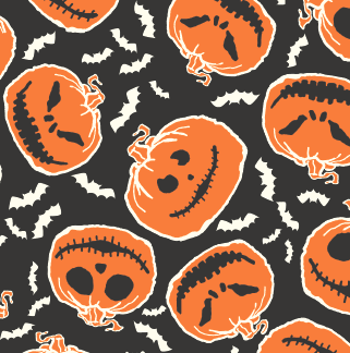 Halloween midnight pumpkin print